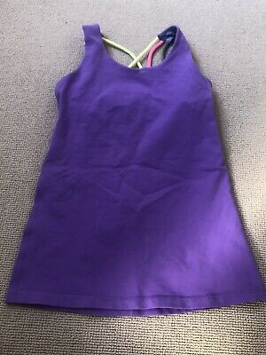 lululemon for girls - purple sports top - size 12 ages