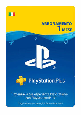 PlayStation Plus (PS+) - Abbonamento 1 Mese - Nuovo / Codice Download - Italia