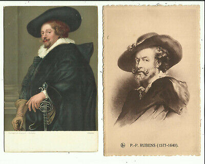 Two Art Postcards - Artist, Rubens - From Early Century