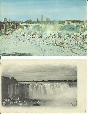 Two Postcards - Niagara Falls in Different Seasons, Canada