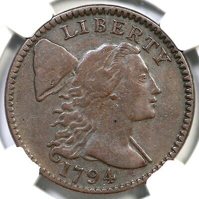 """1794 S-69 R-3 NGC VF25 """"Head of 1795"""" Liberty Cap Large Cent Coin 1c"""