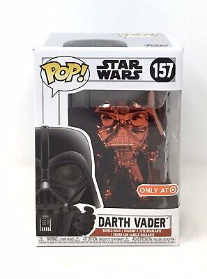 Funko Pop! Star Wars Red Chrome Darth Vader Red Card Target Exclusive