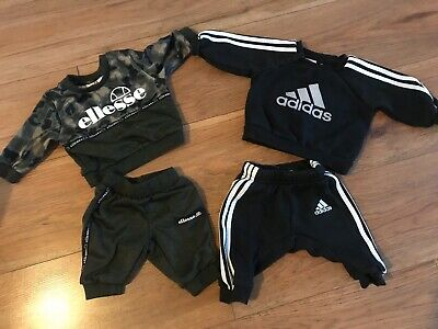 X2 Baby 0-3 Months Designer Tracksuits Adidas And Ellesse Good Clean Condition