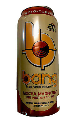 VPX Bang Energy Drink Keto Protein Coffee 15 oz,12 Cans Mocha  Best By 12/19
