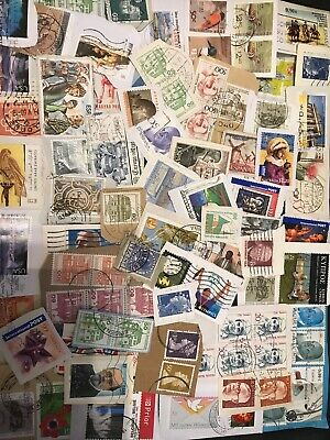 World Stamp Clippings Kiloware From Charity Source (lot242)