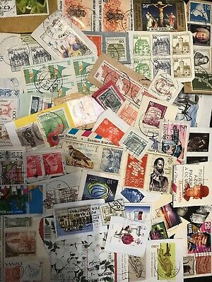 World Stamp Clippings Kiloware From Charity Source (lot241)