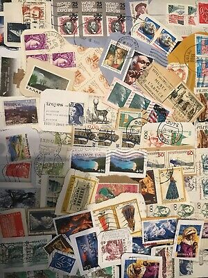World Stamp Clippings Kiloware From Charity Source (lot225)