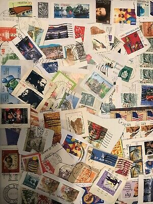 World Stamp Clippings Kiloware From Charity Source (lot234)