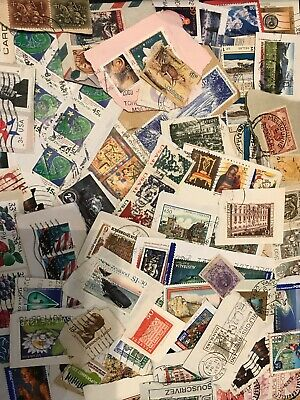 World Stamp Clippings Kiloware From Charity Source (lot230)