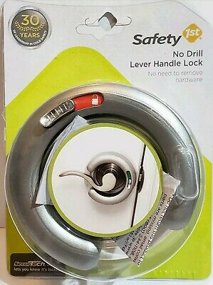 Safety 1st White Plastic No Drill Lever Handle Lock Model 48448.     24