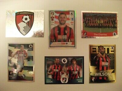 Panini Football Premier League 2020 - 6 Bournemouth stickers including foils
