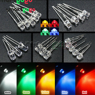 3-10mm Round//Straw Hat//Flat Top//Piranha LED Emitting Diodes Water 8Color DIY ATF