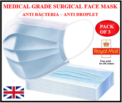 Face Mask - Face, Mouth & Nose Protection Masks -  PACK OF 3