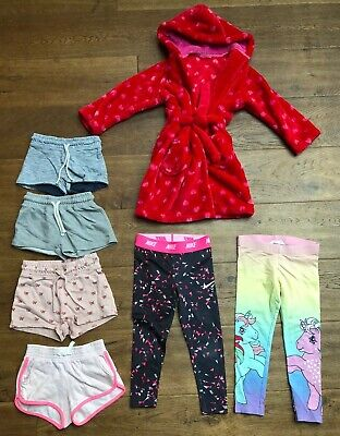 Bundle Of Girls Clothes Age 3-4 Years Next M&S Dressing Gown Nike Gym Leggings