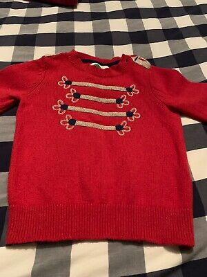 Mini Boden Red Jumper 4-5 Years
