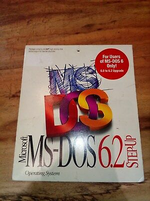 Microsoft MS DOS 6.2 Step Up - Floppy Disk - RARE!!