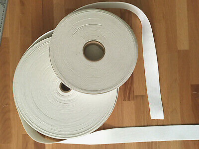 "WHITE Knit Elastic 1 1/4"" or  1 1/2""  Wide  x  3 Yards or 5 Yards Cut From Roll"