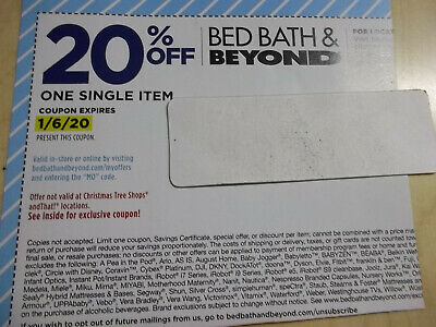LOT 30 BED BATH & BEYOND 20% OFF coupons all EXPIRES 1/6/20 in store or online