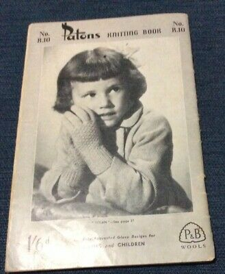 Patons Vintage Collectable Knitting Book- No.R100Gloves Ladies and Children