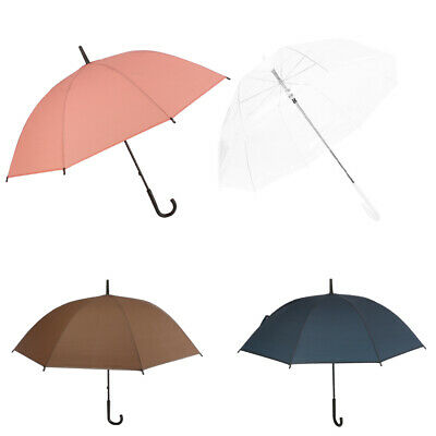 Pack of 4 Crook Handle Automatic Open Umbrella Deluxe Brolly Walking Stick Rain