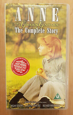ANNE OF GREEN GABLES THE COMPLETE STORY On 2 VHS Tapes
