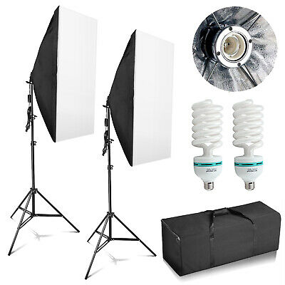 Photography Studio Softbox Lighting Soft Box Video Continuous Light Stand Kit