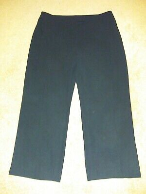 "Kasper Womens Size 18 Solid Black Dress Pants Inseam 31"" fully lined"