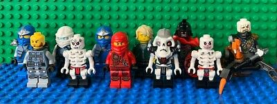Genuine Lego Ninjago Minifigure Bundle Lloyd - Jay - Stone Warrior