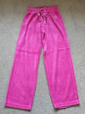 Girls Velour Tracksuit Bottoms Age 5-6 Years