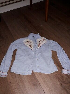 girls light blue blouse age 7 years from next