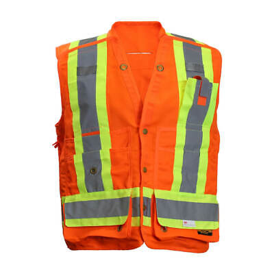 DuraDrive CSAZ96 Tear Away Surveyor Safety Vest - 5 Point Vest