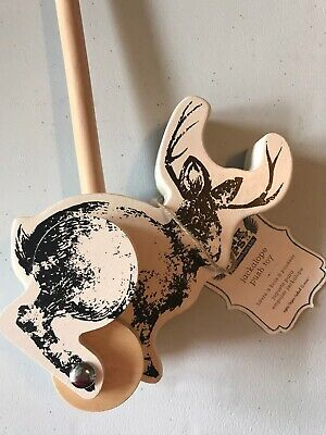 Pottery Barn Kids Junk Gypsy Jackalope Wooden Push Toy - Toddler - Cute! New!