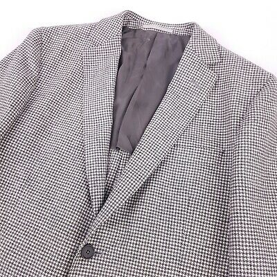 Recent Z ZEGNA Houndstooth Drop 8 Deco Fit Unstructured Wool Jacket 42R US 52 EU