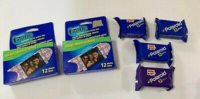 Sealed Regular POLAROID & I-Zone Instant Pocket Sticker Film Packs- Lot Of 6