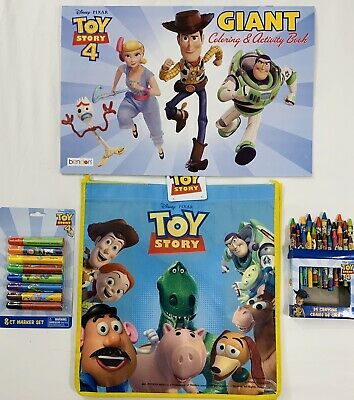 Film Tv Spielzeug Toy Story 4 Jumbo Coloring Activity Book W 10 Count Crayons Gift Wrapped New Co