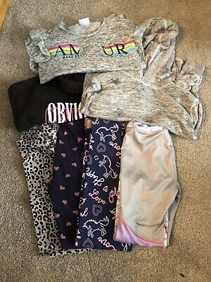 Girls Clothes Bundle Age 10-11 Years (7 items) Leggings and Tops