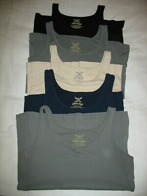 Lot Faded Glory Tank Top Sz L Large Navy Blue Gray Beige Womens Fitted