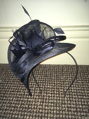 Dark Blue Navy Fascinator Headband Debut Debenhams Wedding Races