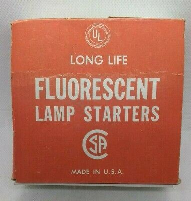Box of 24 FS-12X  32W Fluorescent Light Lamp Starters  ON GUARD  UNUSED/NOS