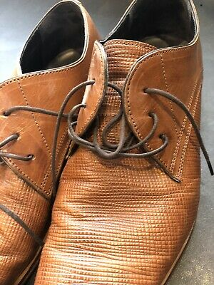 Julius Marlow Size 10/44 Hyena Tan Dress Shoe