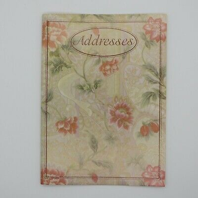 """Vintage Telephone and Address Book with Victorian Flowers on Cover 5"""" X 7"""""""