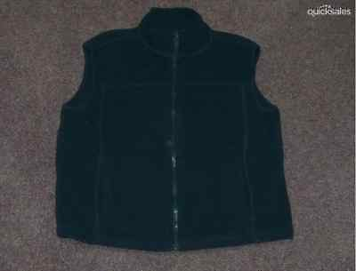 Bottlegreen Fleece Zip Front Sleeveless Vest - Size 10