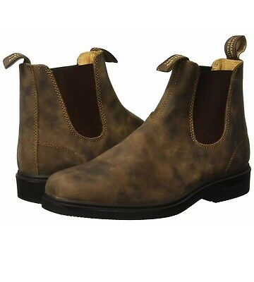 New Leather Rustic Brown Blundstone Dress Series Chelsea Boot Sz 9.5 US