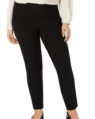 Alfani Women's Pants Black Size 18W Plus Pull On Velvet Stripe Stretch $79 #031