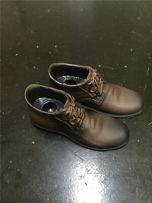 """Man Male Shoes 1//6 Leather Shoes Brown Solid F 12/"""" Male Action Figure Doll"""