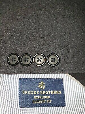 Brooks Brothers Mens Size 48R Dark Gray Regent Fit Two Button Blazer/Suit Jacket