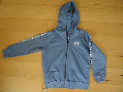 BROOKLYN INDUSTRIES boys sz 10 blue zip up hoodie.  EUC