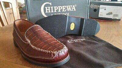 BNIB Chippewa USA handmade Bison leather loafer casual shoes size 10 large/11