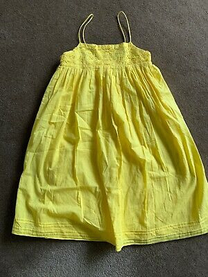 Girls Excellent FRED BARE Yellow Summer Dress Size 10