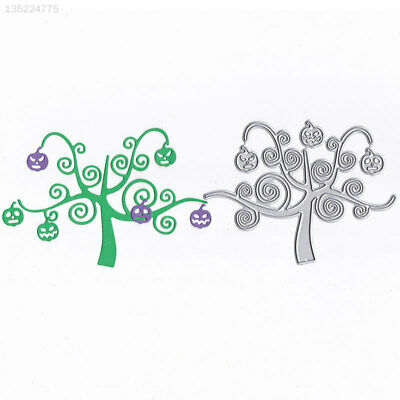 8C90 Durable Halloween Pumpkin Tree Cutting Dies Cutting Stencil Embossing